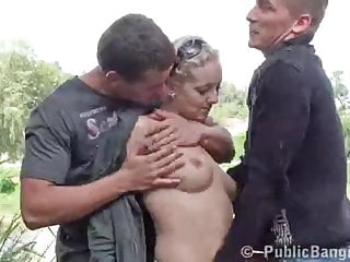 Dunns river sex - Public threesome sex at a river bank. awesome