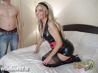Hot boy spunk - Slutty blonde milf sucks and fucks group cock for hot spunk
