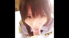 Asian Police Slut Givin Head