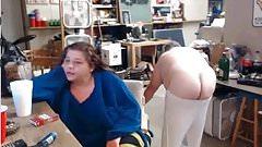 Daddy showing bid ass