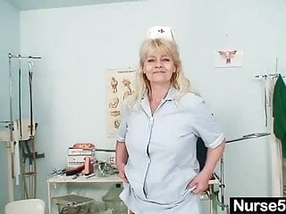 Naked girls by age Aged blond lady shows off natural tits and dildo skills