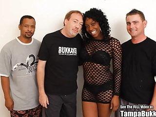 Free tampa bukkake video Hot black chick bedroom gangbang bukkake