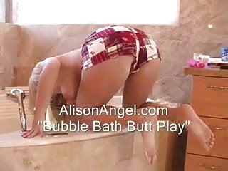 Ass touching Ass touching in a bubble bath