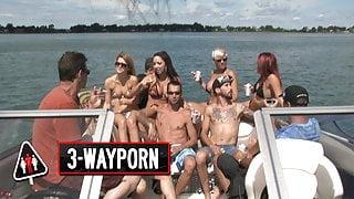 3-Way Porn - Speedboat Group Orgy - Part 1
