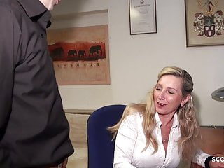 Jennie big anal dildo Deep anal for german mature jenny in stockings at work