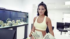 Dirty Latina Maid Blows Customer