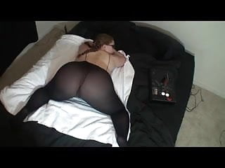 Sexy lingerie great brition Hot lady in glasses shows off her great ass