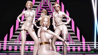 R18- MMD BLACKPINK - Forever Young Nude Vers