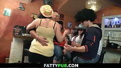 Big tits group bbw party