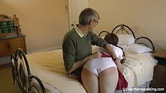 Spanked for fighting