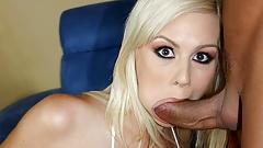 Tara Lynn Foxx is fingering her ass while riding cock