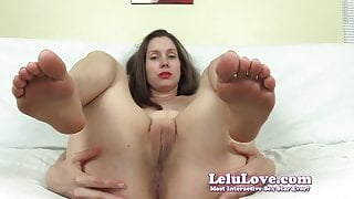 Lelu Love-FemDom Foot Asshole Worship Cumshot On Feet CEI