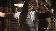 Lesbian Schoolgirl In Uniform Tied Up And Turned Into Slave