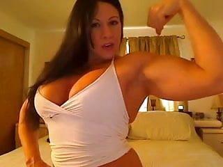 Womans health breast Strong woman shows of breasts