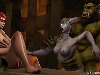 Orc foam latex prosthetic - Hot big ass warcraft babes pussy drilled by orcs