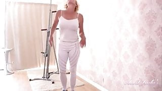 Lovely Mature Gets Excited During Exercise