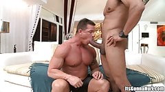 Bodybuilder Daddy Cries Over Biggest Dick in His Life