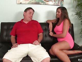 Jerk man off xxx - Horny teen jerks off a mature man