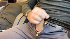 It was an empty train so I decided to jerk off and cum.
