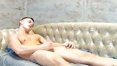 Handsome Straight Lad Cums on Webcam