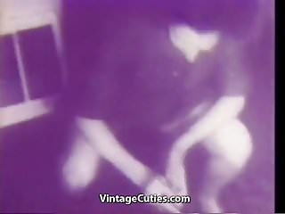 1940s vintage style Seductive chick fucked in hot positions 1940s vintage
