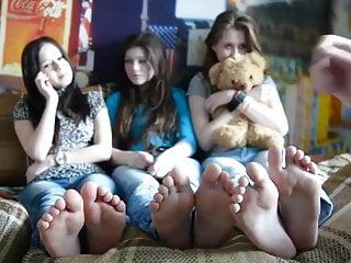 Foot teen tickling Tickling teens soles
