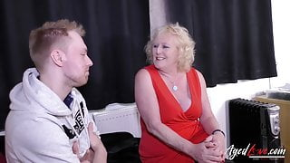 Claire Knight fucks with Chris Cobalt and his huge dick