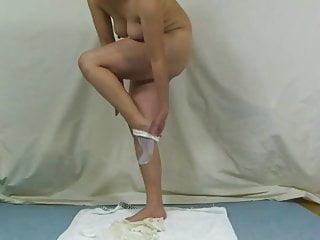 Pierce bronsen wife bikini Elmers wife anal bikini inserting 2 with long socks