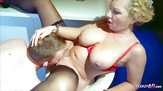 German Mom First Has Fun with Stepson and then Fucks his StepDad