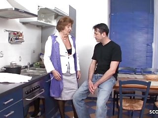 Grandma forces grandson to fuck - Grandson seduce hairy granny to fuck - german vintage porn