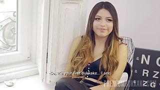 PremiumBukkake - Camila Palmer swallows 66 mouthfuls of cum