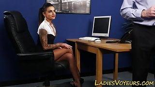 Kinky dominatrix humiliates creep