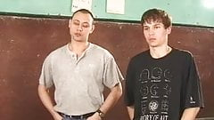 Russian teacher and two boys