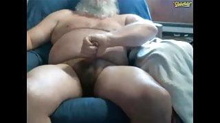 Straight bear dad cumshot