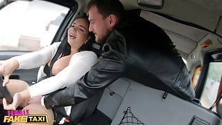 Female Fake Taxi Sofia Lee gets her big tits bouncing
