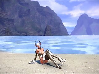 High quility teens Tera: castanic whore dancing on the beach high quility