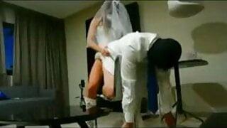 Wedding pegging. Honeymoon is over
