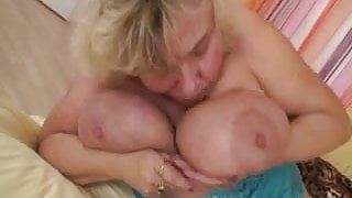 BBW Granny Joined by Cock