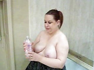 My moms amazing oiled tits Oiling my boobs