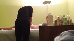 Hidden Cam At Wax Salon Girl Rubs Hard Dick Of Customer