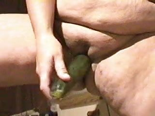 Insert corn in pussy Bbw wife inserts cucumber in pussy while standing