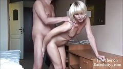 Hot Blonde Fucked Hard and Cumming