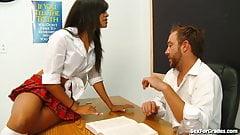 Naughty Latina Schoolgirl Seduces Her Teacher