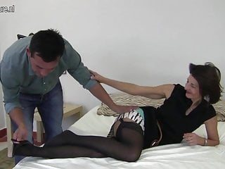 Young boys fucking her ass - Hairy british mature mom fucking her boy
