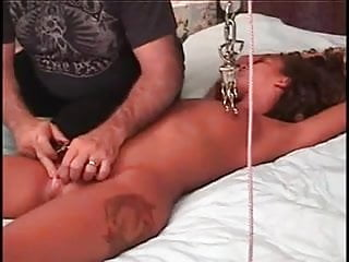 Junk yard anal Woman gets her girl junk spanked clamped and fucked wf