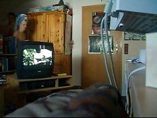 Sex in livingroom Unaware girl in livingroom