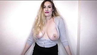 STACY'S STEPMOM - British mature big tits JOI & dance tease