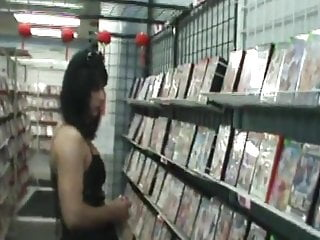 Oooh ah adult super store Flashing in adult store
