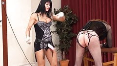 Sissy punished with dildo and strapon