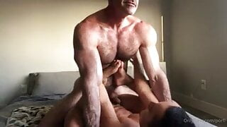 HIS MUSCLED DADDY FROM SAN DIEGO WAS IN TOWN AND BREEDS HIM